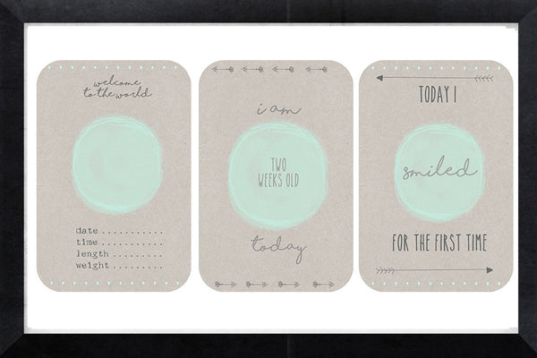 Milestone Cards - minty pop