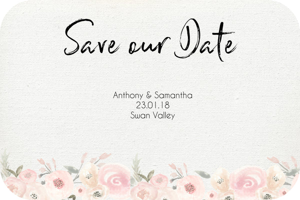 Wedding - Save the Date Cards - dusty wildflower