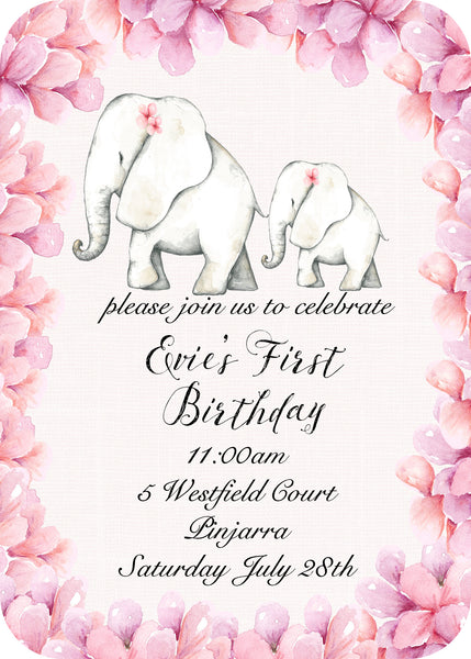 Invite - elephants