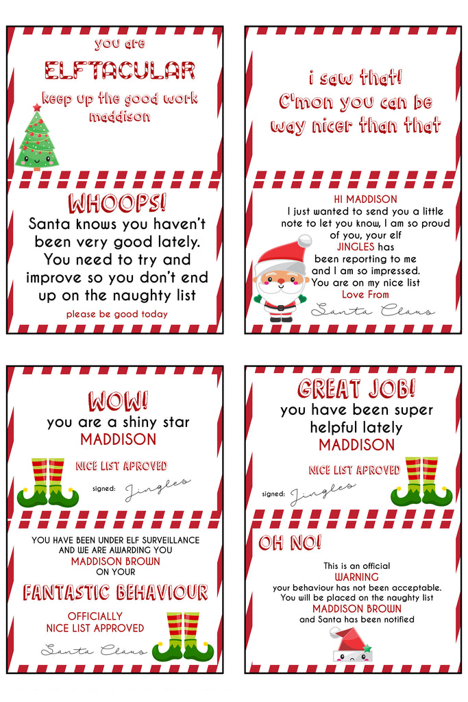 Christmas - Elf on the Shelf - Elf personalised notes ...