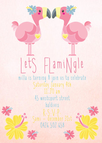 Invite - digital pdf - flamingle