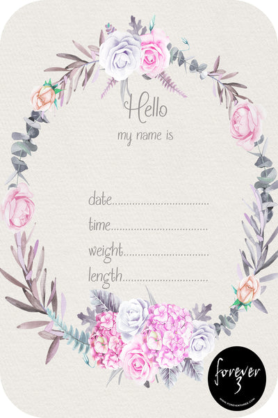 Announcement Card - floral