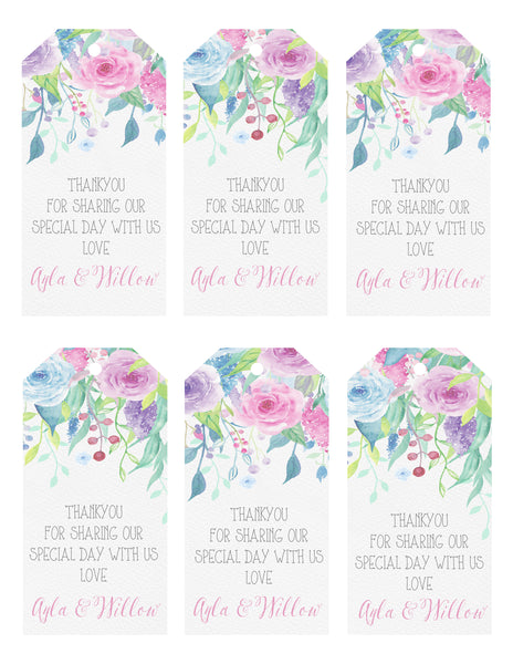 Gift Tags - floral pop