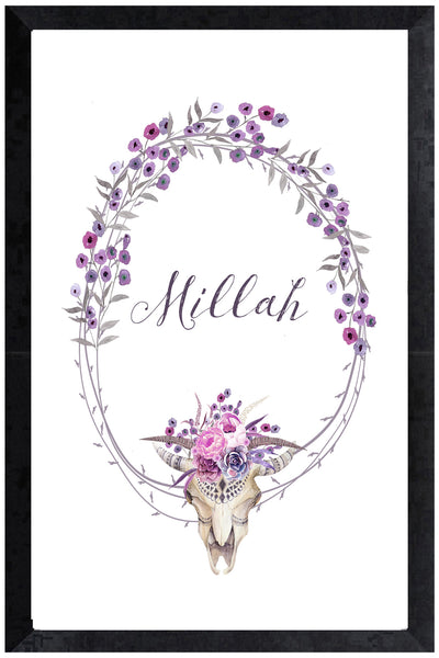 Print - botanical bullskull name