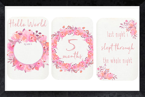Milestone Cards - beautiful blooms
