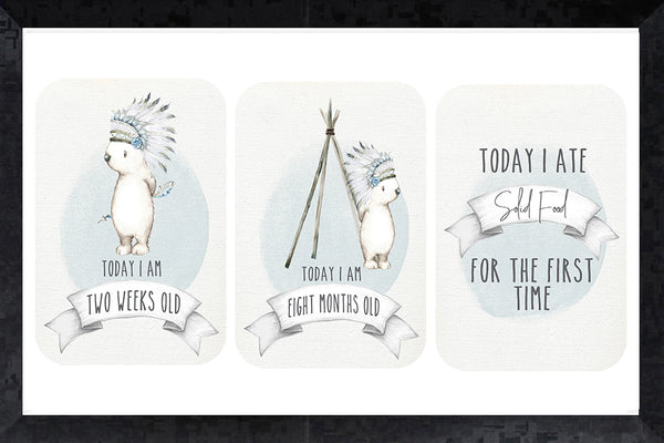 Milestone Cards - bear chief
