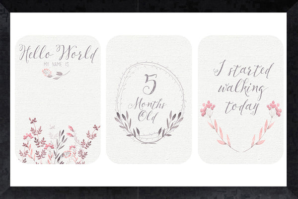 Milestone Cards - dusty wildflower