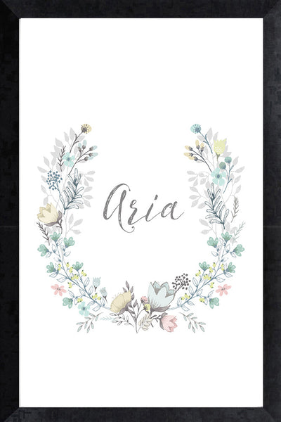 Print - tiffany name wreath