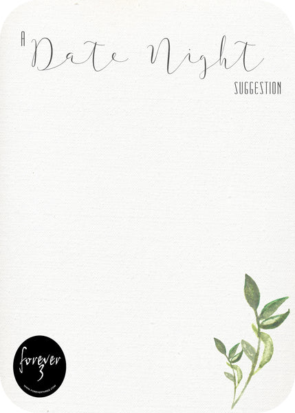 Hens Day - date night suggestion cards - leaf