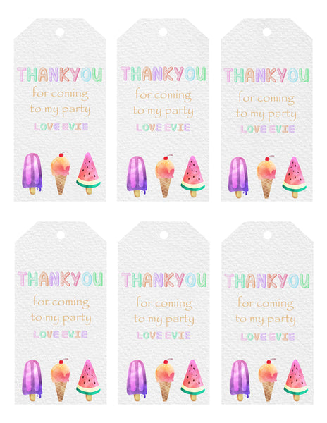 Gift Tags - Icecream