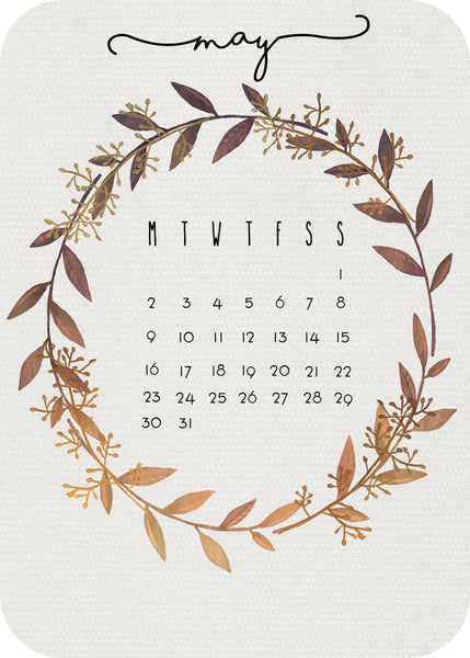 Calendar Month - leaves