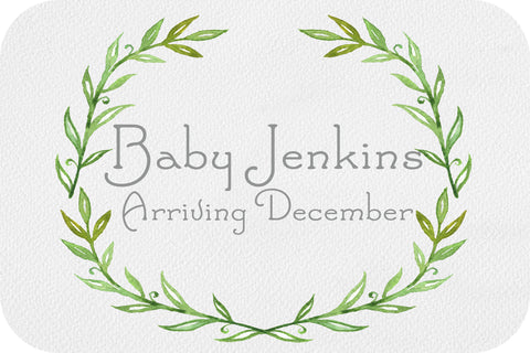 Pregnancy Announcement Card - natural