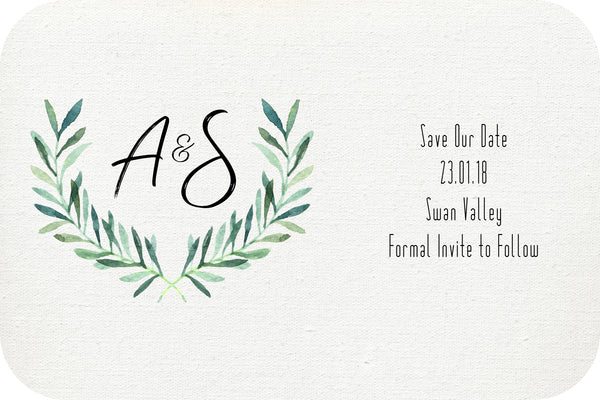 Wedding - Save the Date Cards - natural minimalist