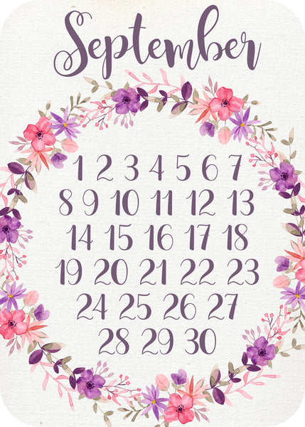 Calendar Month - posy pop