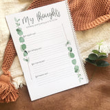 Book - pregnancy journal record keepsake - evergreen