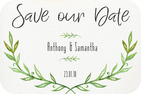 Wedding - Save the Date Cards - leaf