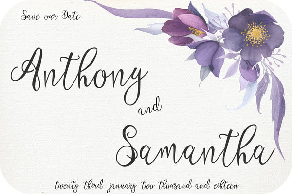 Wedding - Save the Date Cards - violet