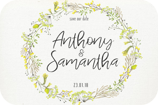 Wedding - Save the Date Cards - wattle