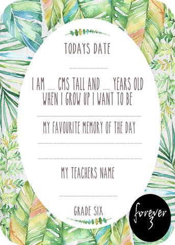 School Cards - tropic