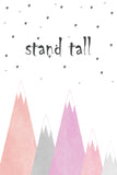 Print - stand tall pinks