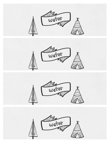 Water Bottle Label - teepee