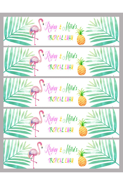 Party - flamingle drink labels