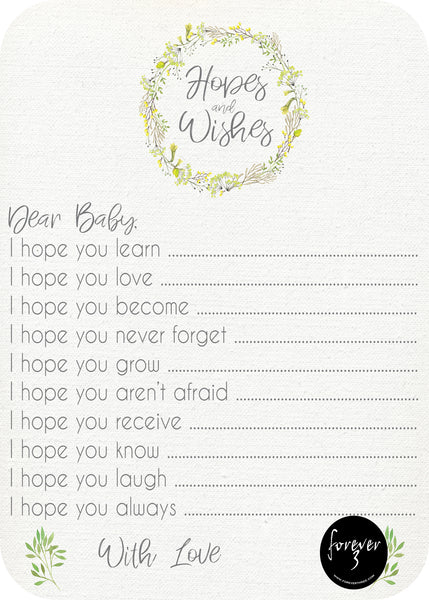 Baby Shower - hopes and wishes for baby - wattle