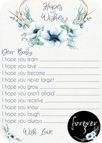 Baby Shower - hopes and wishes for baby - anemone