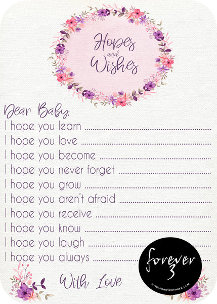 Baby Shower - hopes and wishes for baby - posy pop