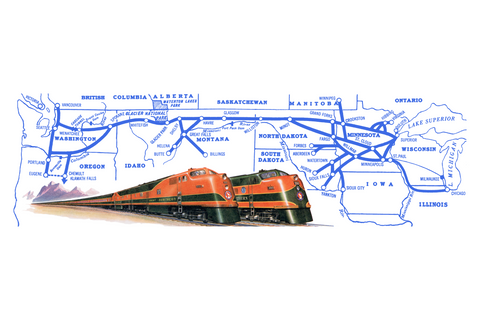 Empire Builder Map