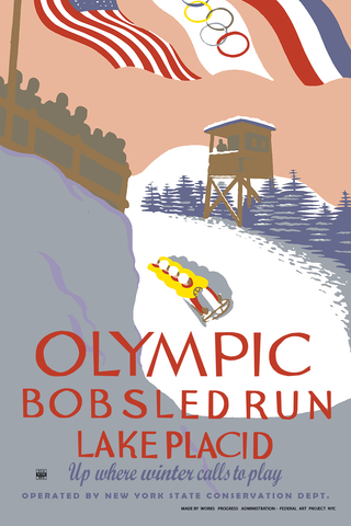 Olympic Bobsled Run Lake Placid New York