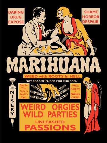 Marihuana Weed With Roots In Hell