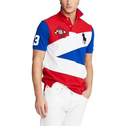 POLO RALPH LAUREN Big Pony Multi-Color Short-Sleeve Polo Shirt, Multi