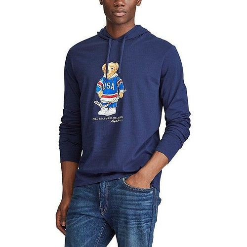 POLO RALPH LAUREN Polo Bear Hooded T-Shirt, Cruise Navy