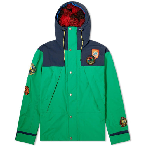 POLO RALPH LAUREN Sportsman Patch Hooded Jacket, Cruise Navy/ Kayak Green