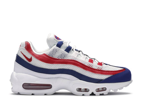 NIKE AIR MAX 95 WHITE/GYM RED-DEEP ROYAL BLUE