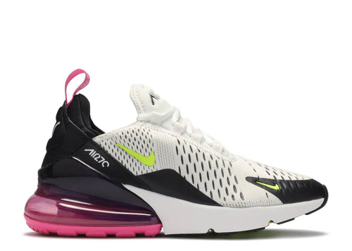 NIKE AIR MAX 270 (GS) WHITE/VOLT-BLACK-LASER FUCHSIA