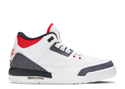 AIR JORDAN 3 RETRO SE (GS) WHITE/FIRE RED-BLACK
