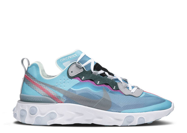 NIKE REACT ELEMENT 87 ROYAL TINT/BLACK-WOLF GREY-SOLAR RED