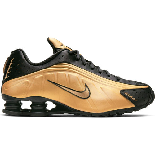 NIKE SHOX R4 METALLIC GOLD/BLACK