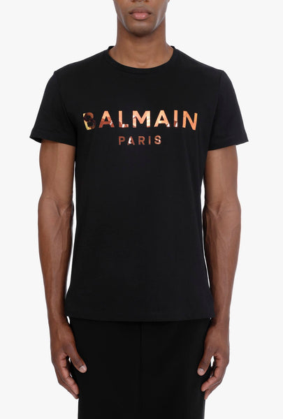 BALMAIN HOLOGRAM T-SHIRT, Black