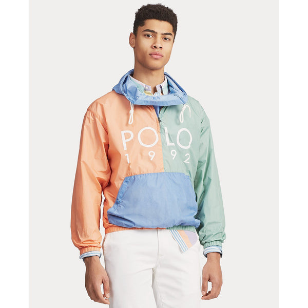 POLO RALPH LAUREN Color-Blocked Hooded Jacket, Blue Multi