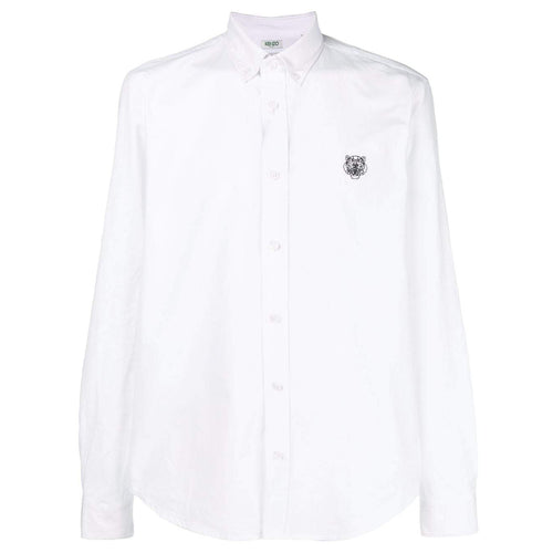 KENZO Tiger Button-Down Shirt, White
