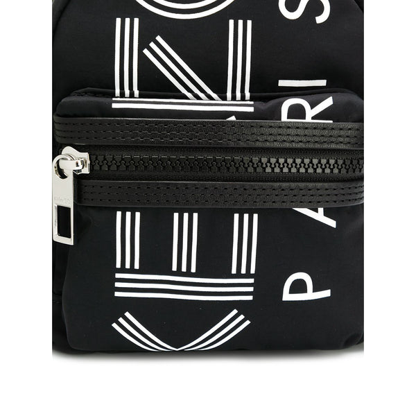 KENZO Logo Print Mini Backpack, Black