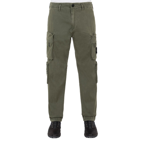 STONE ISLAND Old Dye Treatment Cargo Pants, Olive Green
