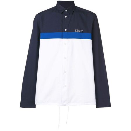 KENZO Hooded Shirt Jacket, Black