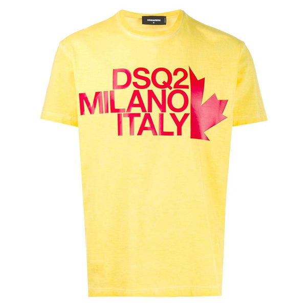 DSQUARED2 Logo Printed T-Shirt, Yellow