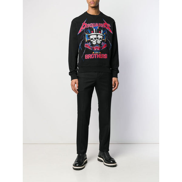 DSQUARED2 Graphic Logo Sweatshirt, Black