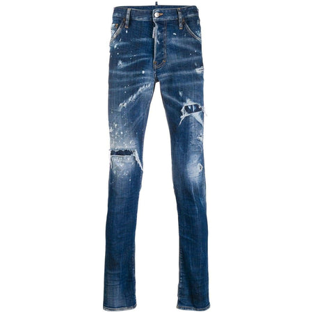 DSQUARED2 Straight Leg Jeans, Dark Wash