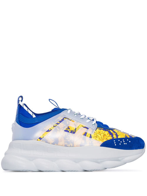 VERSACE Chain Reaction Sneakers, Blue Multi